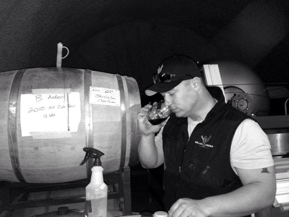 Winemaker Brian Harlan, sampling the 2010 Cabernet Sauvignon