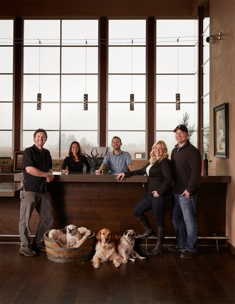 The staff at Brian Arden Winery