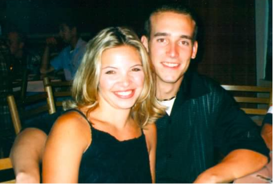 Amanda and Brian in 1998 high school seniors